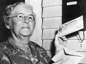 Woman Receiving Social Security Check