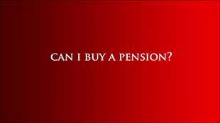 Can I Buy a Pension?
