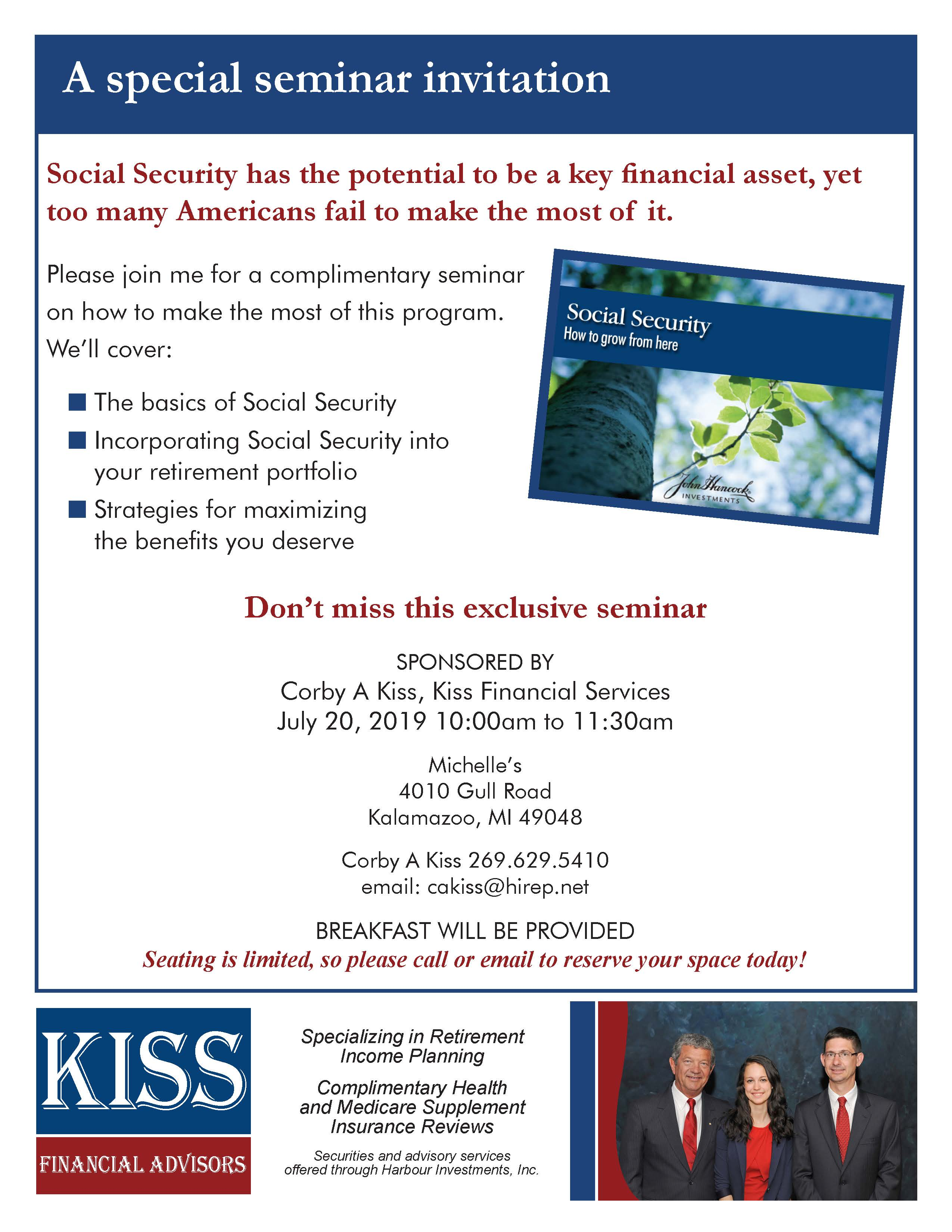 Events - KISS Financial Advisors